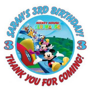 Personalised Micky Mouse Clubhouse Party Stickers